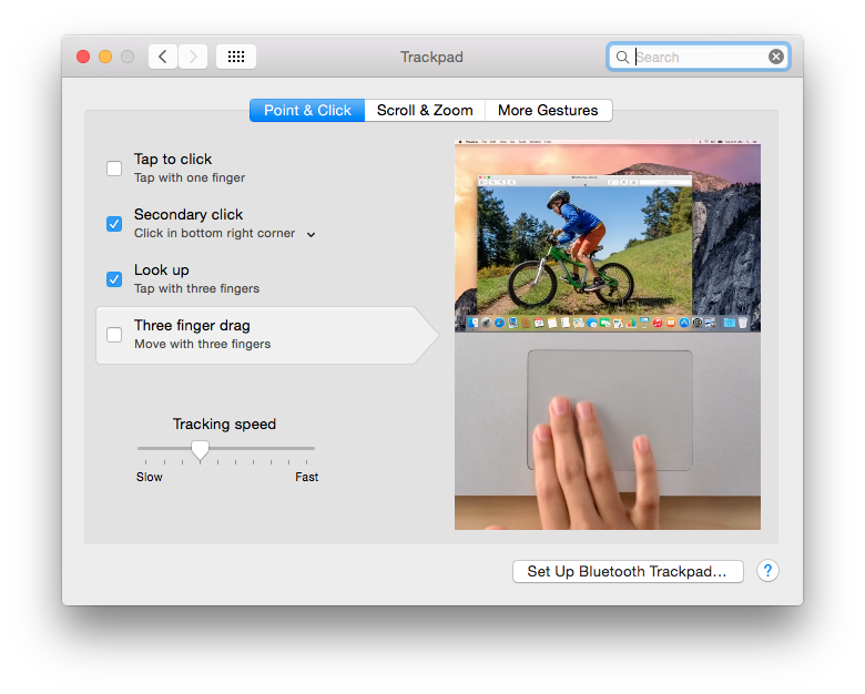Max OS X Enable Right Click Trackpad